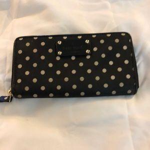Kate Spade Black & White Polka Dot Wallet